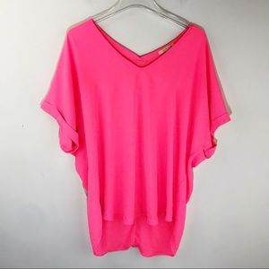 Gibson Latimer Dolman Tunic Shirt Hot Pink Medium